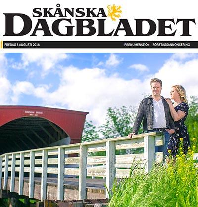 Artikel om Broarna i Madison County i Skånska Dagbladet